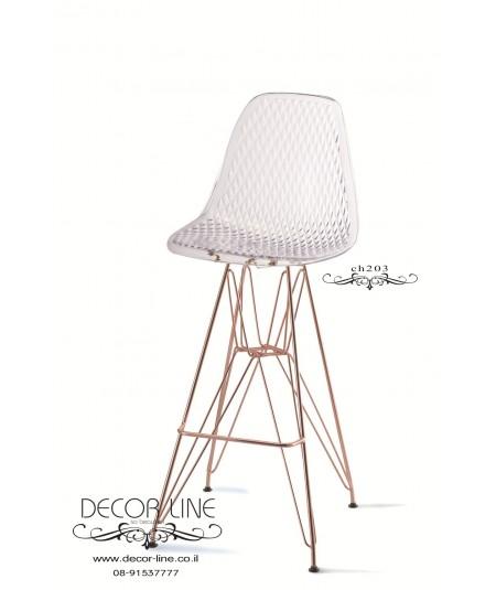 GOLD DLAMOND   כיסא בר שקוף דגם
