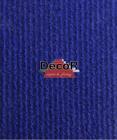 שטיח לבד בצבע כחול  רוחב  2.44מטר