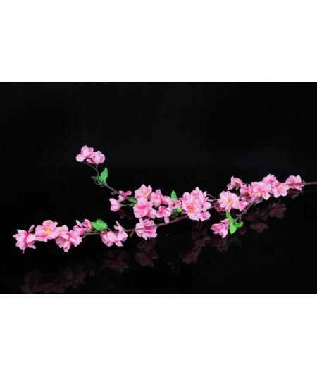 ענף פרחים-שקדיה ורוד