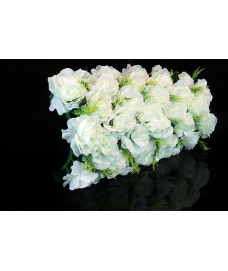 כתר פרחים רחב בצבע לבן
