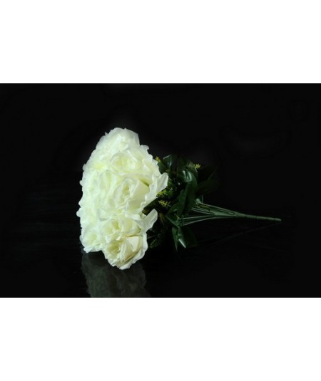 בוקט ורדים בצבע לבן (18 ורדים בבוקט)